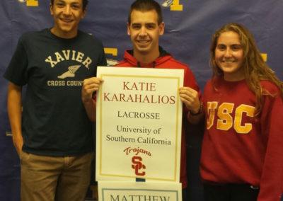 Katie Karahalios, USC + Matt Mekaelian, Xavier