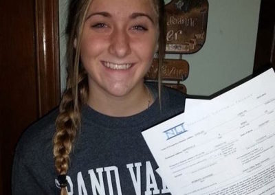 Carly Shisler, Grand Valley State University